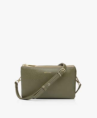 Matt & Nat Triplet Dwell Cross-Body Bag - Leaf