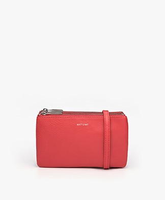 Matt & Nat Triplet Dwell Cross-Body Bag - Red