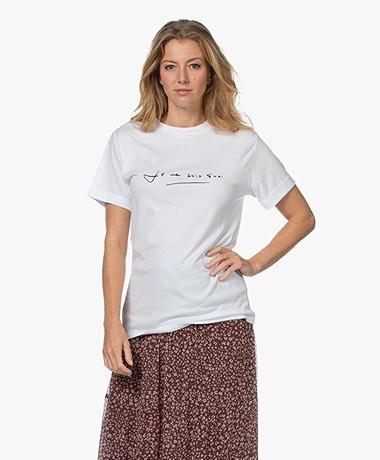 Plein Publique Je Ne Sais Quoi Modalmix T-shirt - Wit