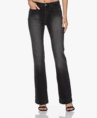 by-bar Duke Gina Flared Jeans - Jet Black