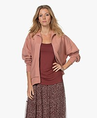 Rag & Bone City French Terry Ritsvest - Mauved Out