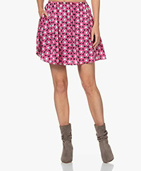 American Vintage Gintown Satin Printed Skirt - Sylvie