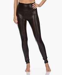 SPANX® Faux Leather Croc Shine Legging - Zwartbruin