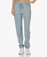 Repeat Fine Knit Wool-Cashmere Sweatpants - Aqua