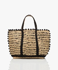 Vanessa Bruno Raffia Shopper - Naturel/Zwart