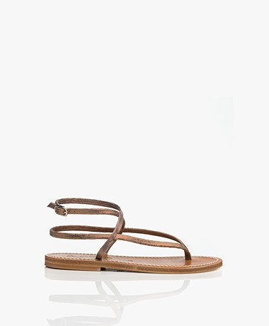 K. Jacques St. Tropez Delta Metallic Sandals - Disco Bronze