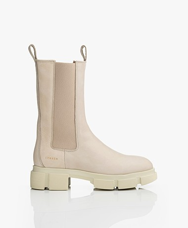 Copenhagen Studios High Nubuck Leather Chelsea Boots - Nature