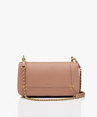 Jerome Dreyfuss Bobi Schouder/Cross-body Tas in Lamsleer - Bois De Rose