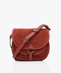 Jerome Dreyfuss Felix M Saddle Schouder/Cross-body Tas - Old Red