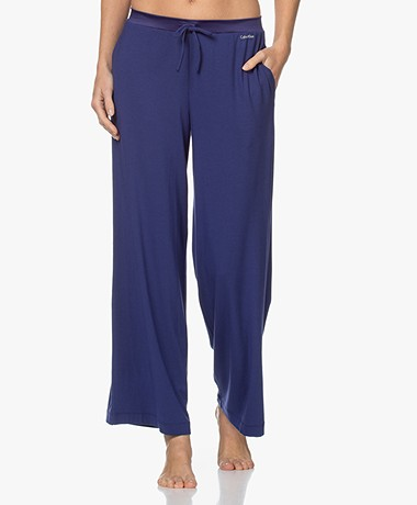 Calvin Klein Modal Jersey Sleep Pants - Space Blue