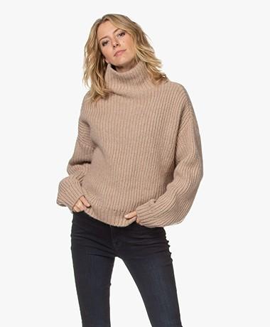 ANINE BING Sydney Oversized Sweater - Camel