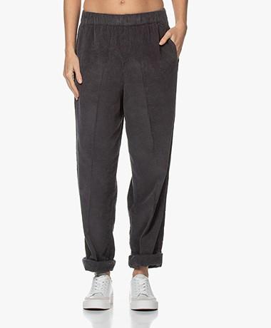 American Vintage Padow Loose-fit Corduroy Pants - Zinc