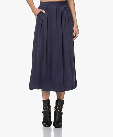 Josephine & Co Jiep Tencel Blend Midi Skirt - Navy