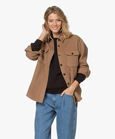 Closed Kally Wool Blend Shirt Jacket - Clay