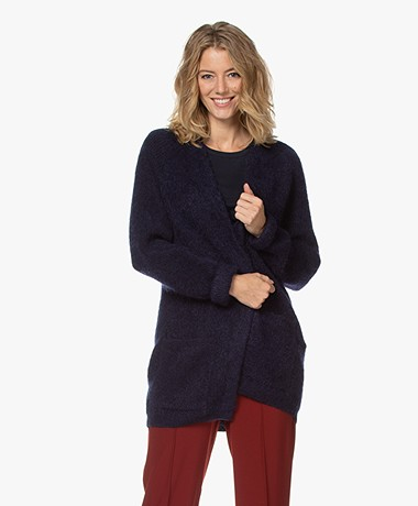 By Malene Birger Belinta Mohairmix Vest - Night Sky