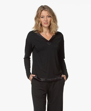Calvin Klein Modal Jersey Pyjama Top - Zwart