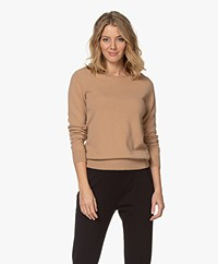 Repeat Cashmere Boothals Trui - Camel