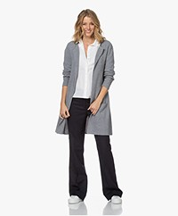 Sibin/Linnebjerg Mary Merino Blend Open Cardigan - Grey