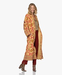 Mes Demoiselles Samacande Dupion Zijde Ikat Kimono - Berry Combo