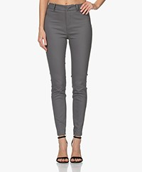 Drykorn Winch Skinny Pied-de-poule Pantalon - Navy/Taupe