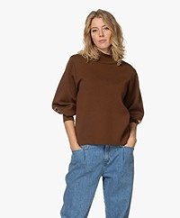 LaSalle Virgin Wool Milano Turtleneck Sweater - Choco