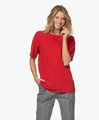 extreme cashmere N°64 Long Knitted Cashmere T-shirt - Heart