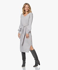 Josephine & Co James Merino-Cashmere Knitted Dress - Silver Grey