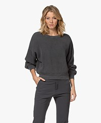 American Vintage Bowilove Wafelsteek Sweater - Vintage Zinc