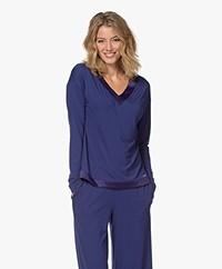 Calvin Klein Modal Jersey Pajama Top - Space Blue