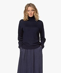 Drykorn Aluna Fine Knit Turtleneck Sweater - Navy