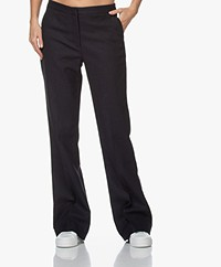 by-bar Ro Gisella Herringbone Flared Pants - Midnight