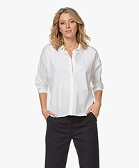 by-bar Norel Katoenen Oversized Blouse - Off-white