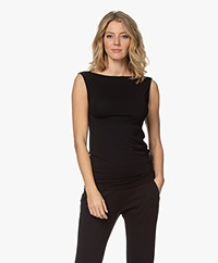 Wolford Aurora Cradle-to-Cradle Boat Neck Top - Black