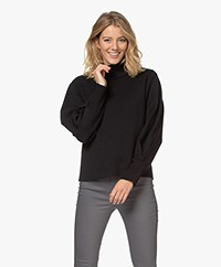 LaSalle Virgin Wool Milano Turtleneck Sweater - Black