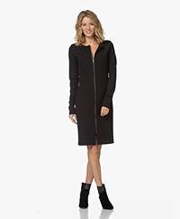 Woman by Earn Claude Crepe Jersey Zip Dress - Black