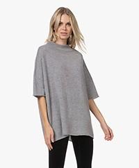 LaSalle Short Sleeve Poncho - Grey