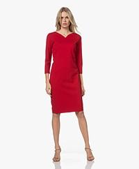 KYRA Ariana Viscose Jersey Dress - Amarena Red