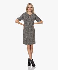 KYRA Synthy Bouclé Short Sleeve Dress - Black