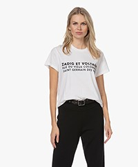 Zadig & Voltaire Zoe ZV Address T-shirt - Wit