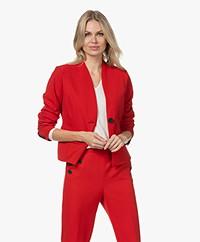 KYRA Luana Short Tailored Blazer - Amarena Red