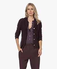 Belluna Fiore Wool Blend Knit Blazer Cardigan - Purple Melange