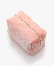 &Klevering Fluwelen Toilettas - Roze