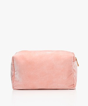 &Klevering Velvet Toiletry Bag - Pink