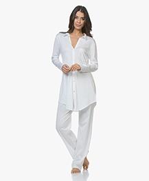 HANRO Cotton Deluxe Jersey Pyjamabroek - Wit