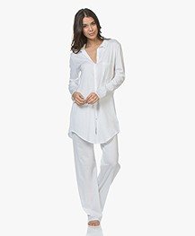 HANRO Cotton Deluxe Jersey Pajama Pants - White