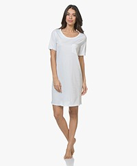 HANRO Cotton Deluxe Jersey Nightshirt - White