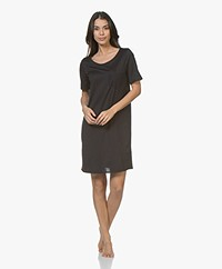 HANRO Cotton Deluxe Jersey Nightshirt - Black