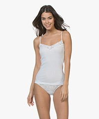 HANRO Moments Spaghetti Strap Top - White
