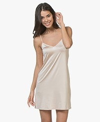 HANRO Satin Deluxe Slip Dress - Natural