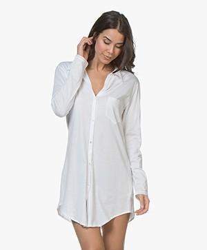 HANRO Cotton Deluxe Jersey Boyfriend Sleepshirt - White